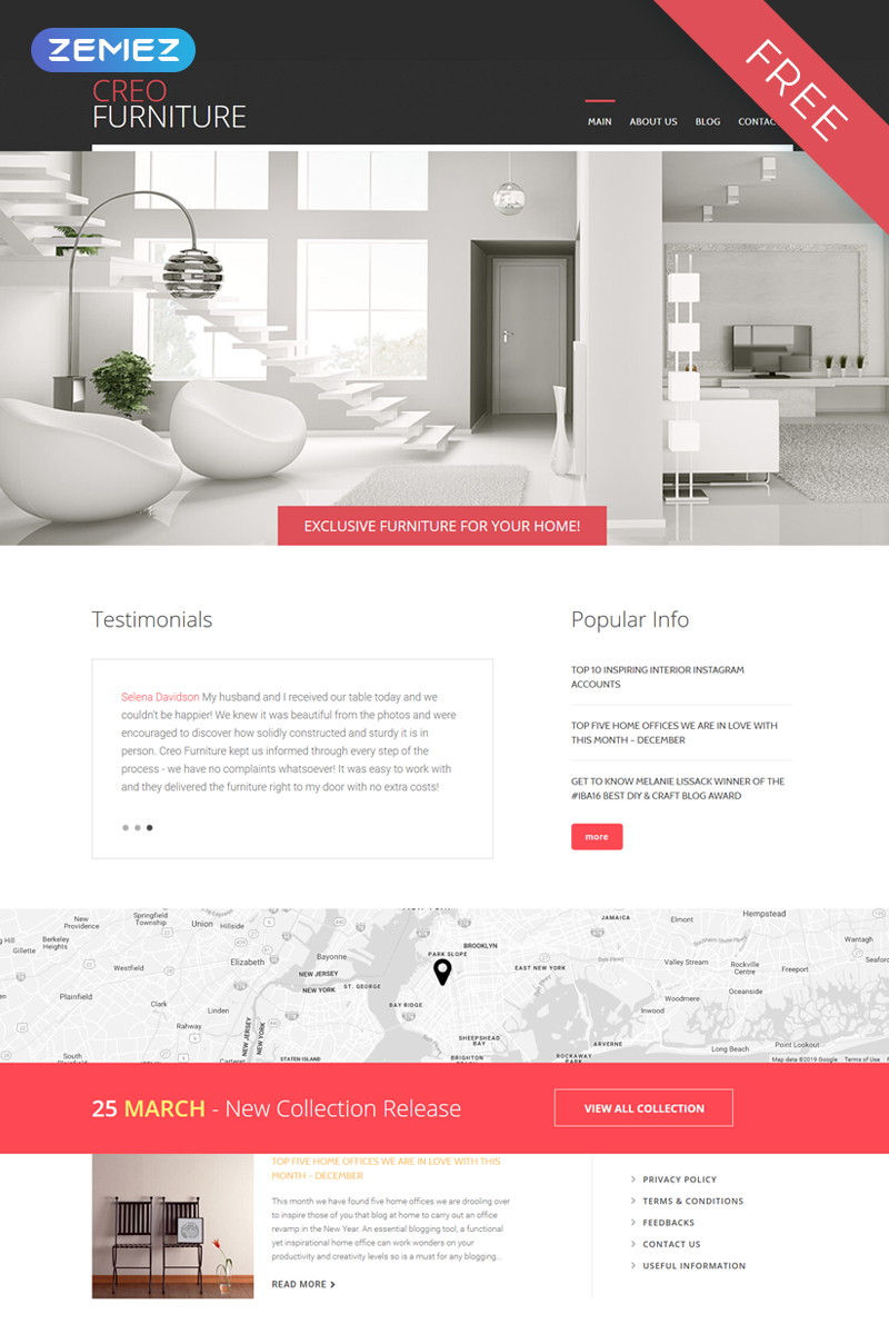 Interior & Furniture Free Joomla Template Joomla Template - screenshot