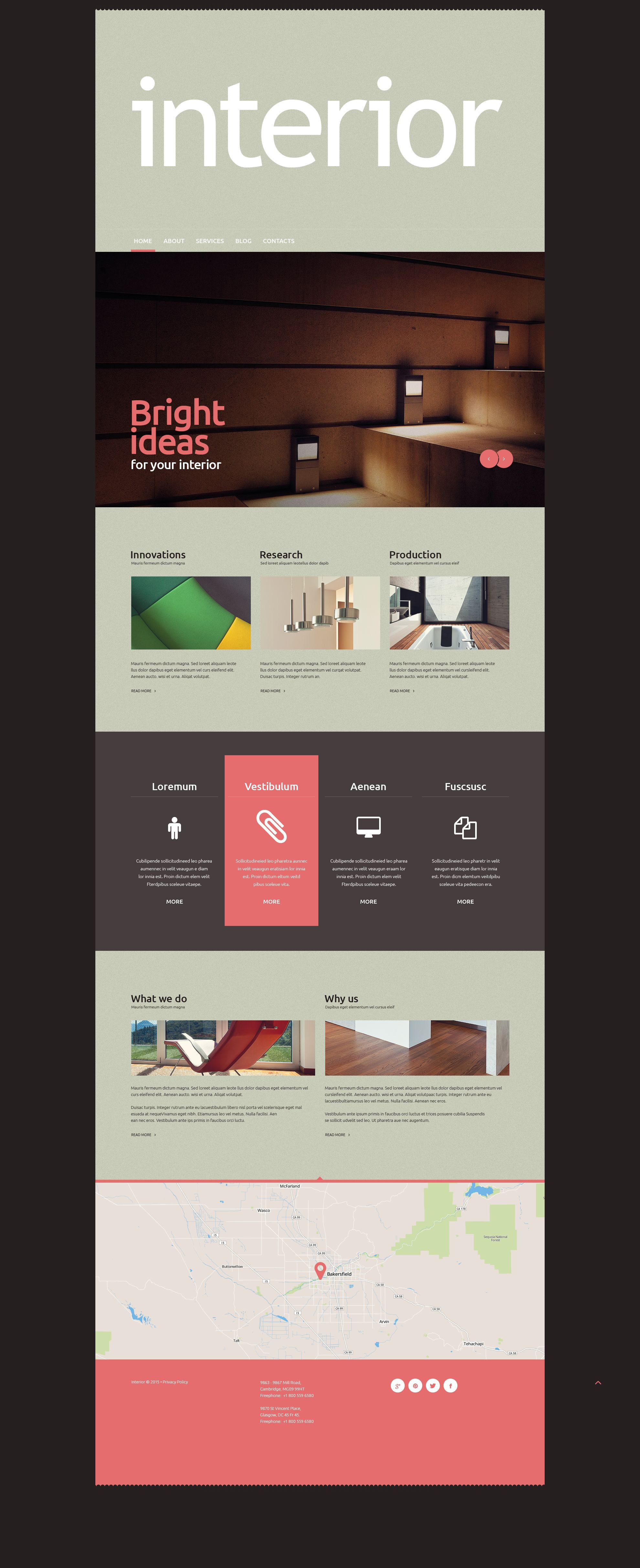 Interior Design WordPress Theme - screenshot