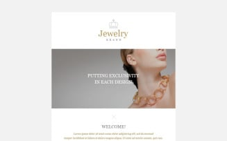 Jewelry Responsive Newsletter Template