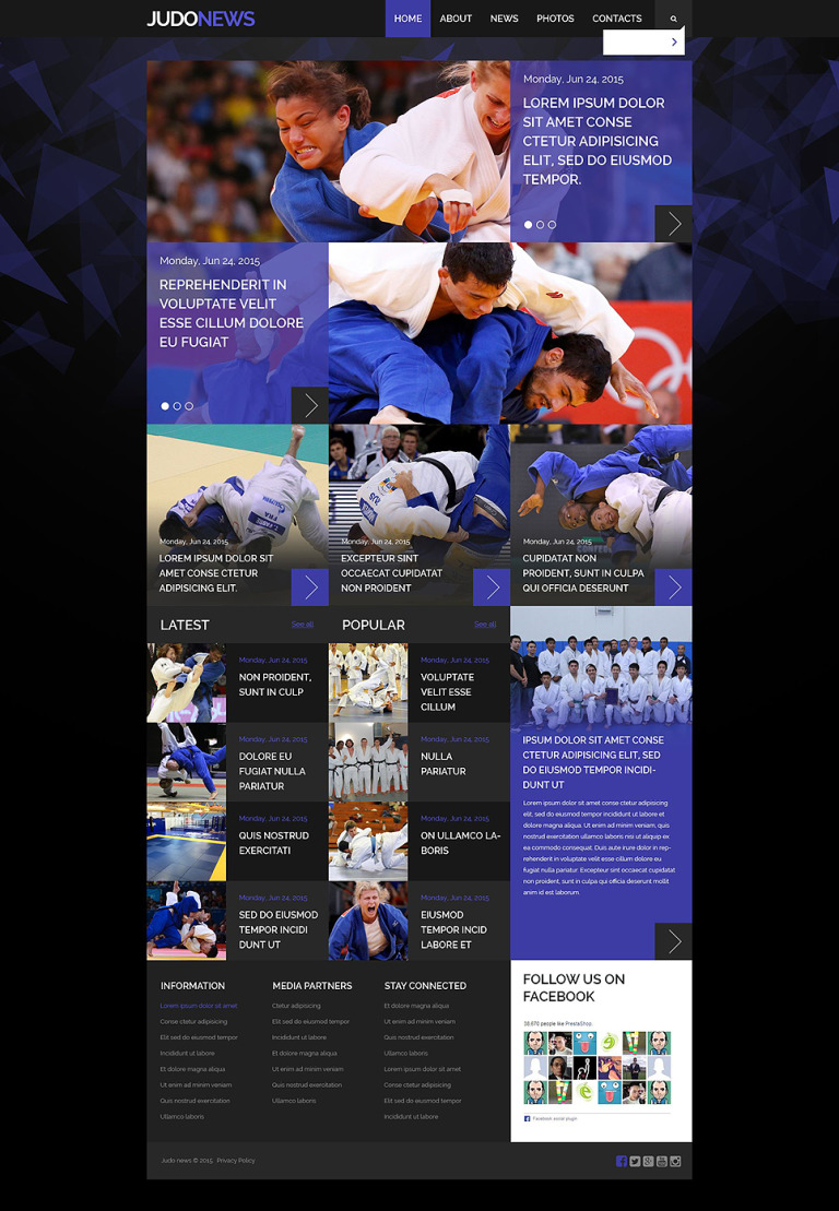 Judo Club Website Template New Screenshots BIG