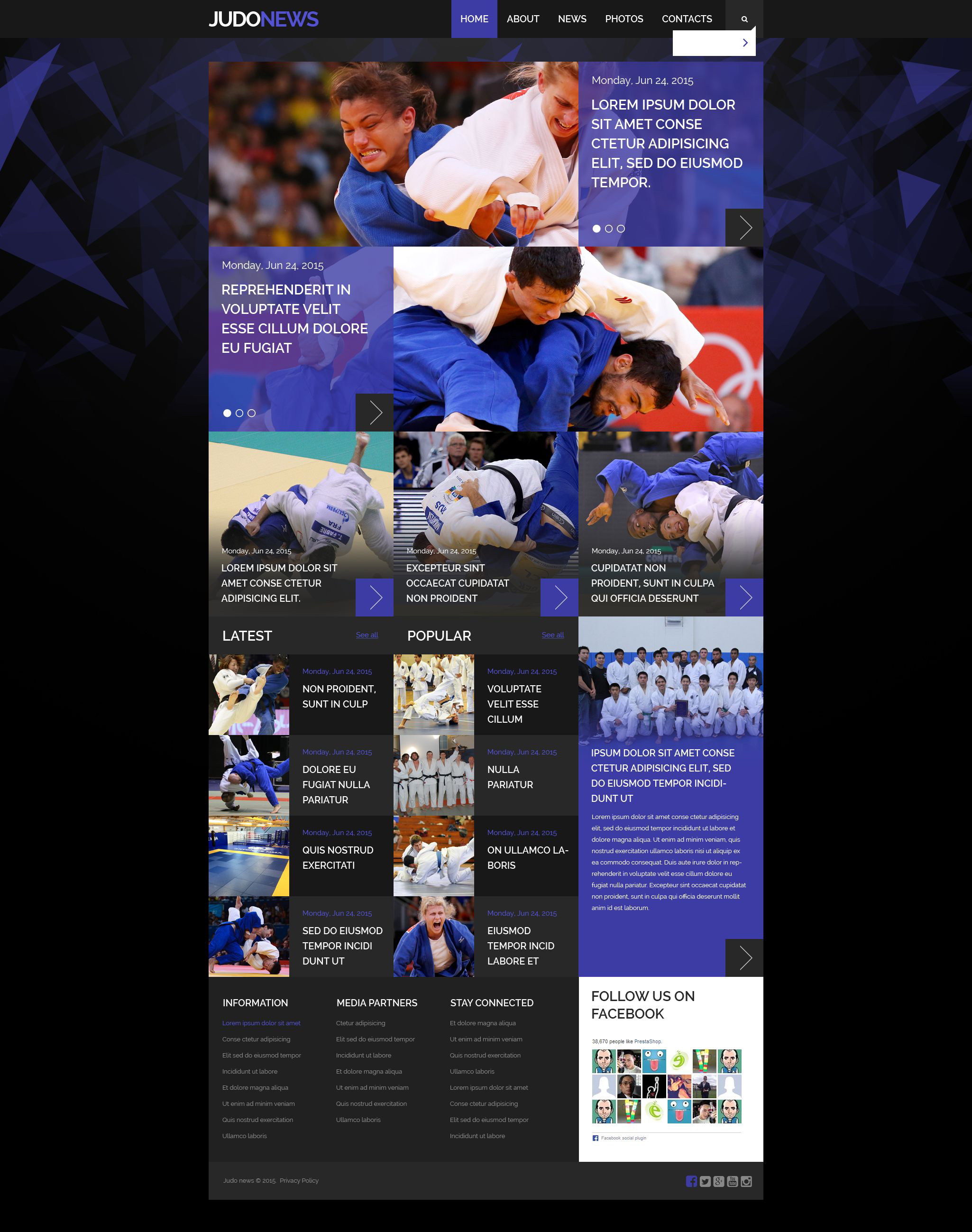 Judo Club Website Template 52958