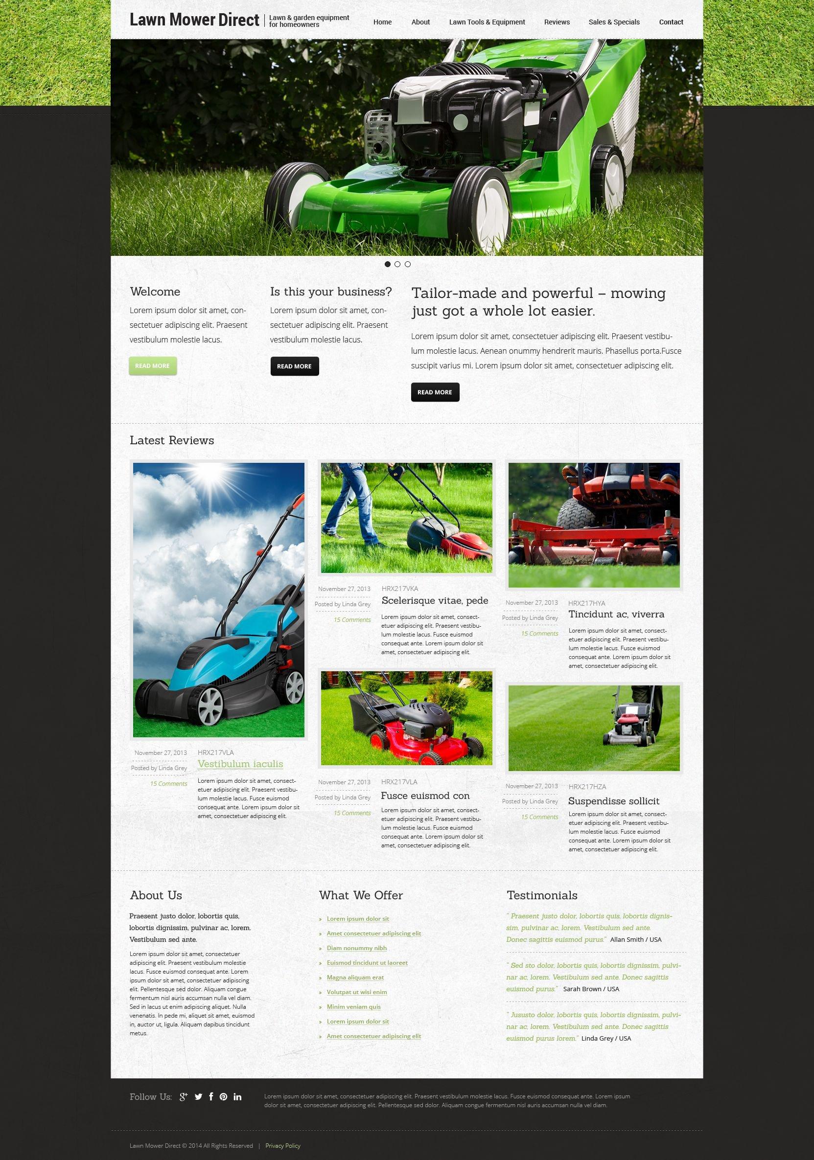 Landscape Design Responsive Joomla Template - screenshot