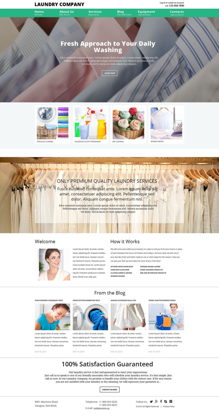 Laundry Service Joomla Template New Screenshots BIG