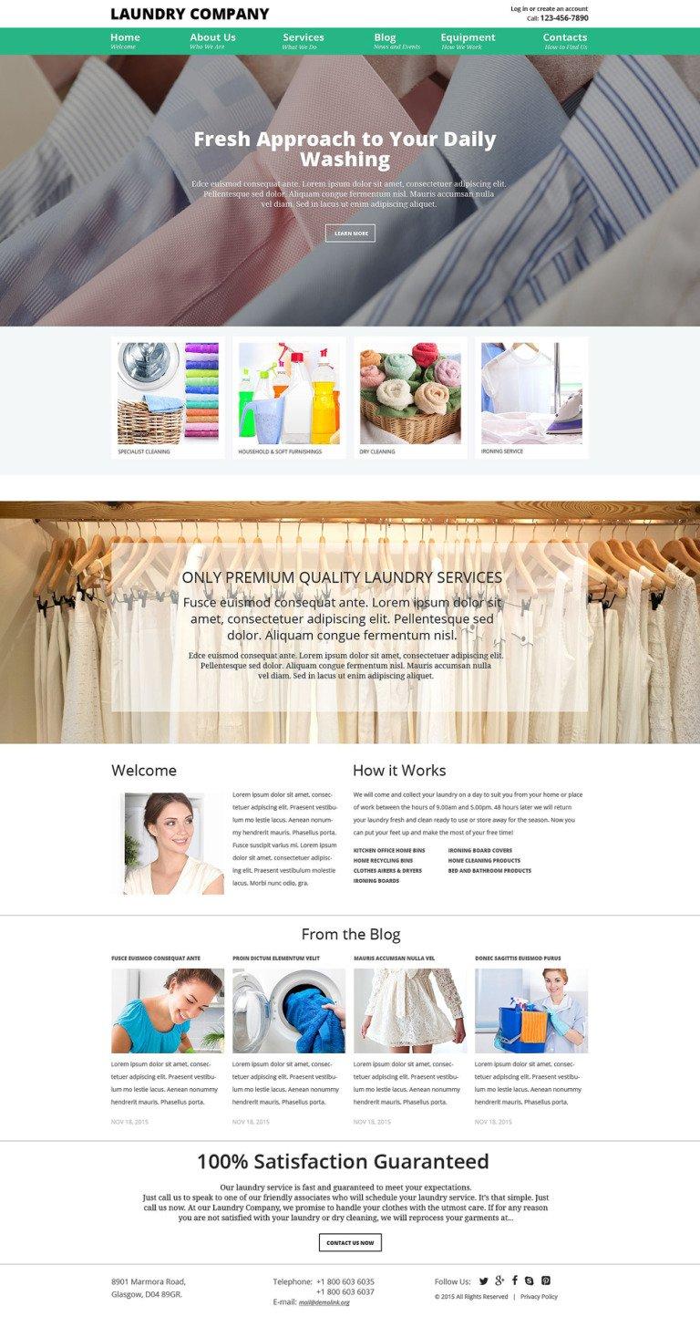 Laundry Service Joomla Template New Screenshots BIG