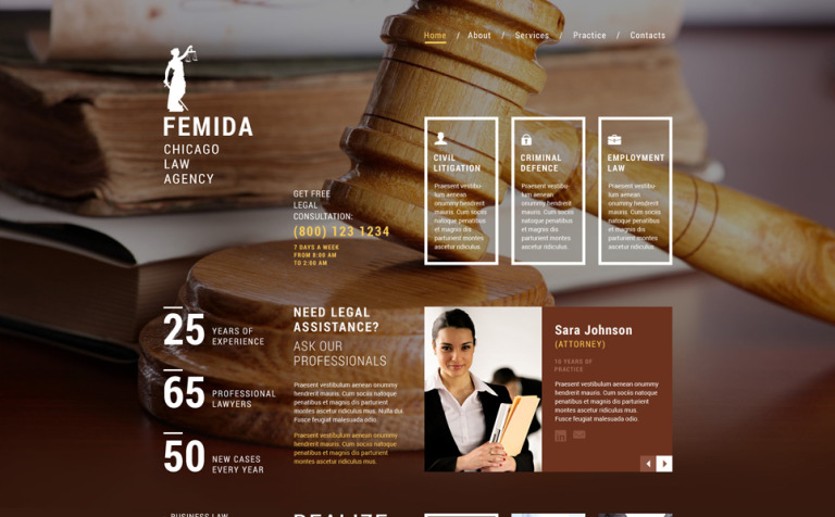 Law Firm Responsive Website Template New Screenshots