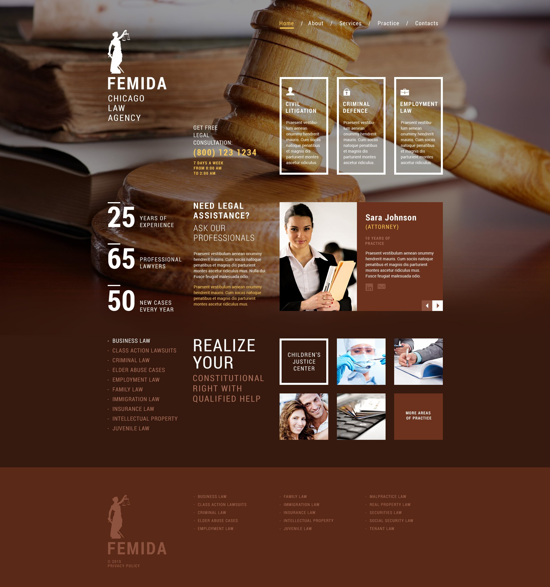 Law Firm Responsive Website Template - Brochure website templates
