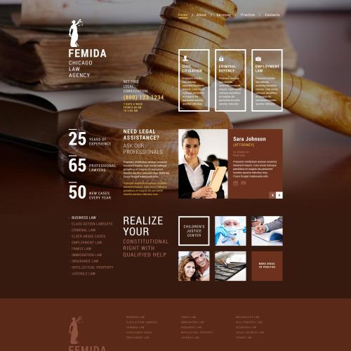 Femida Chicago Law Agency - Responsive Website Template