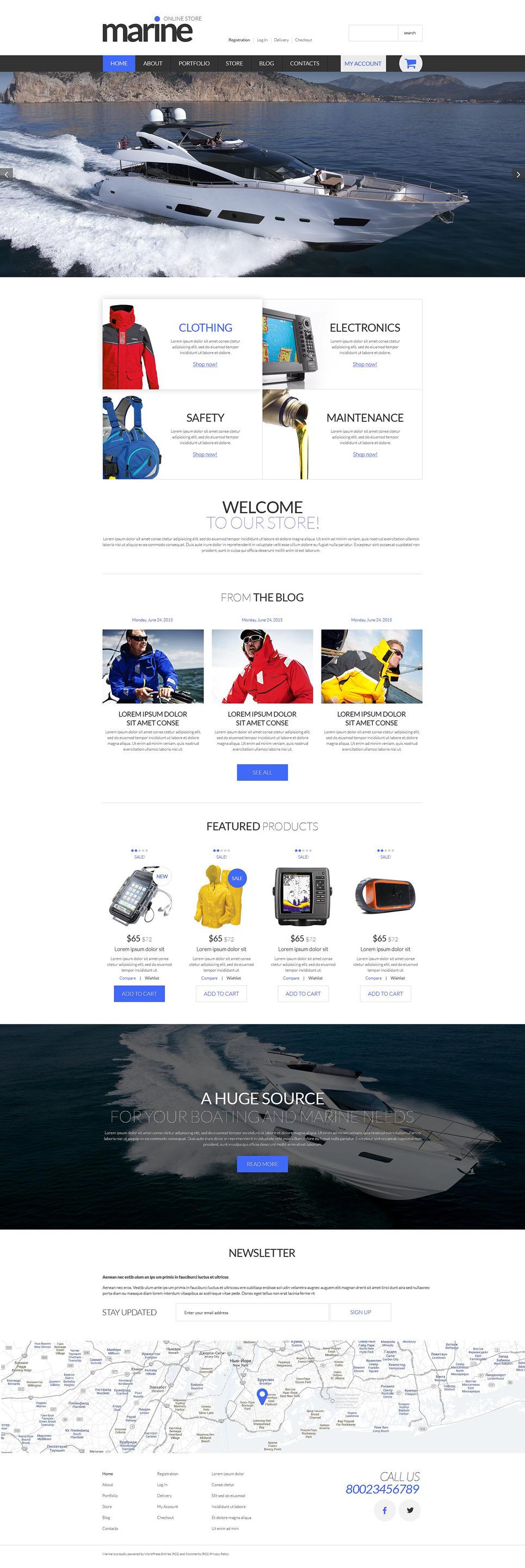 Marine Shop WooCommerce Theme New Screenshots BIG