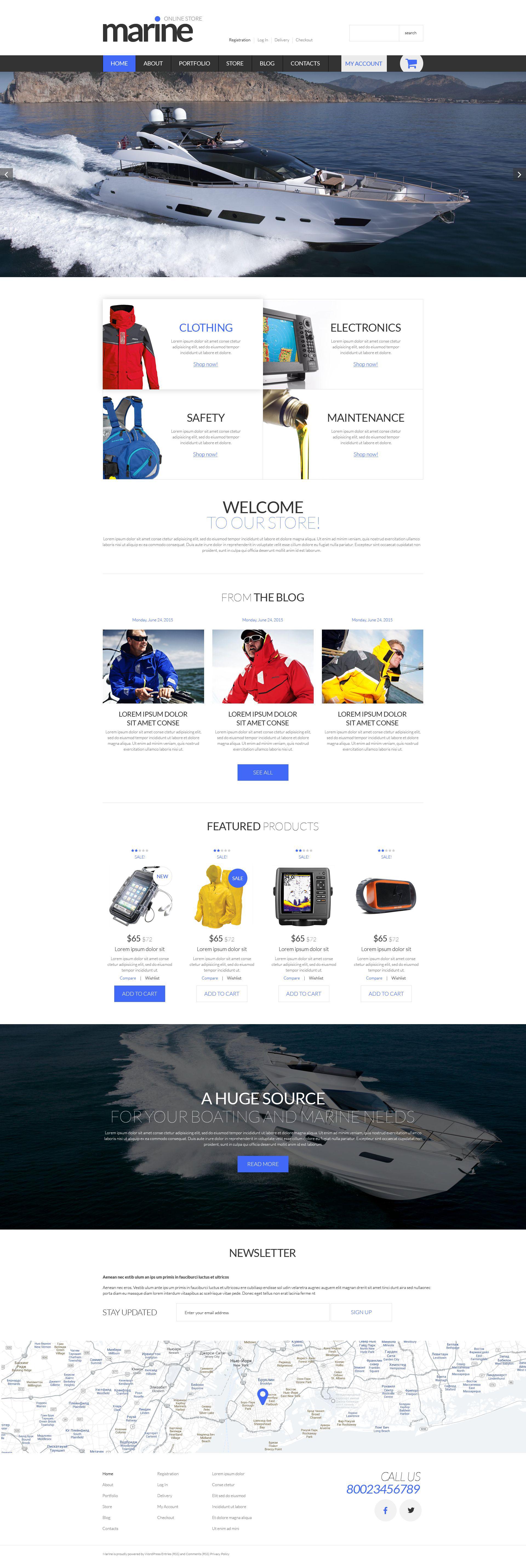 Marine Shop WooCommerce Theme - screenshot