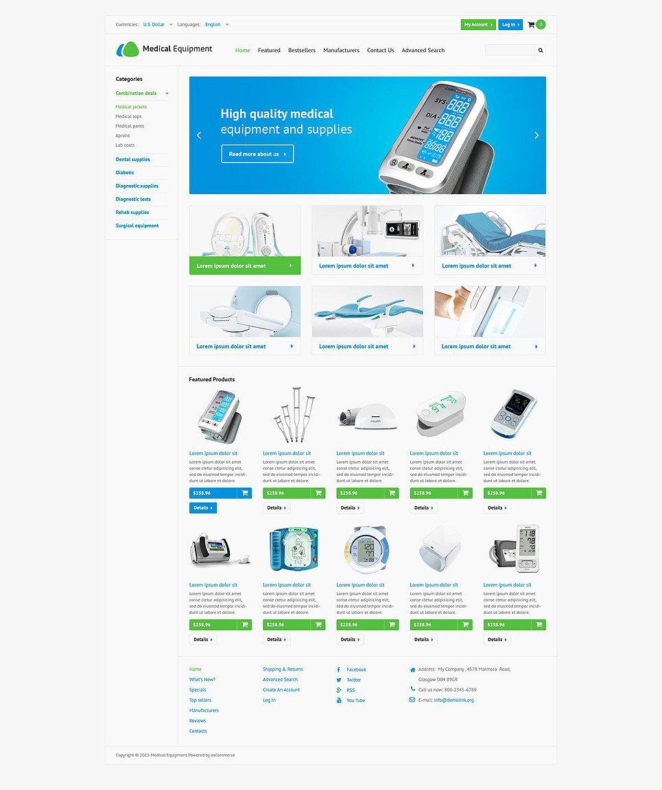 Medical Stock OsCommerce Template New Screenshots BIG