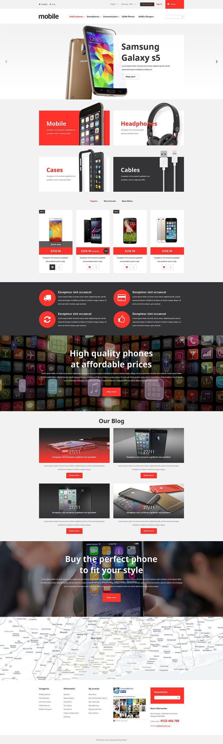 Mobile Phones Store PrestaShop Theme New Screenshots BIG