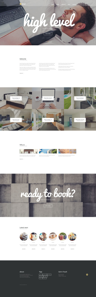 Accounting Website Responsive Tema WordPress