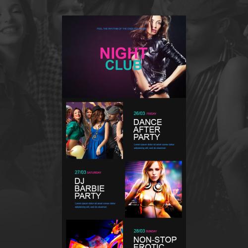 Night Club - Responsive Newsletter Template