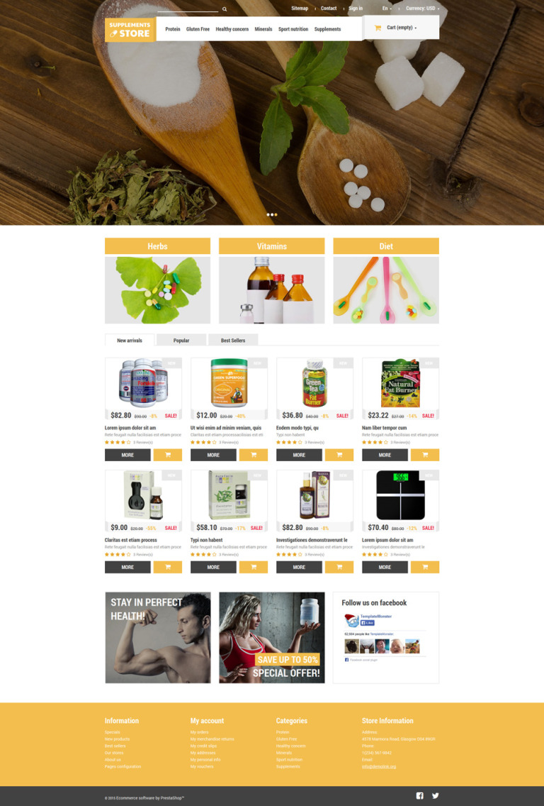 NutritionSupplements PrestaShop Theme New Screenshots BIG