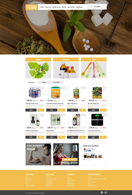 """NutritionSupplements"" 响应式PrestaShop模板 #52915 - 截图"