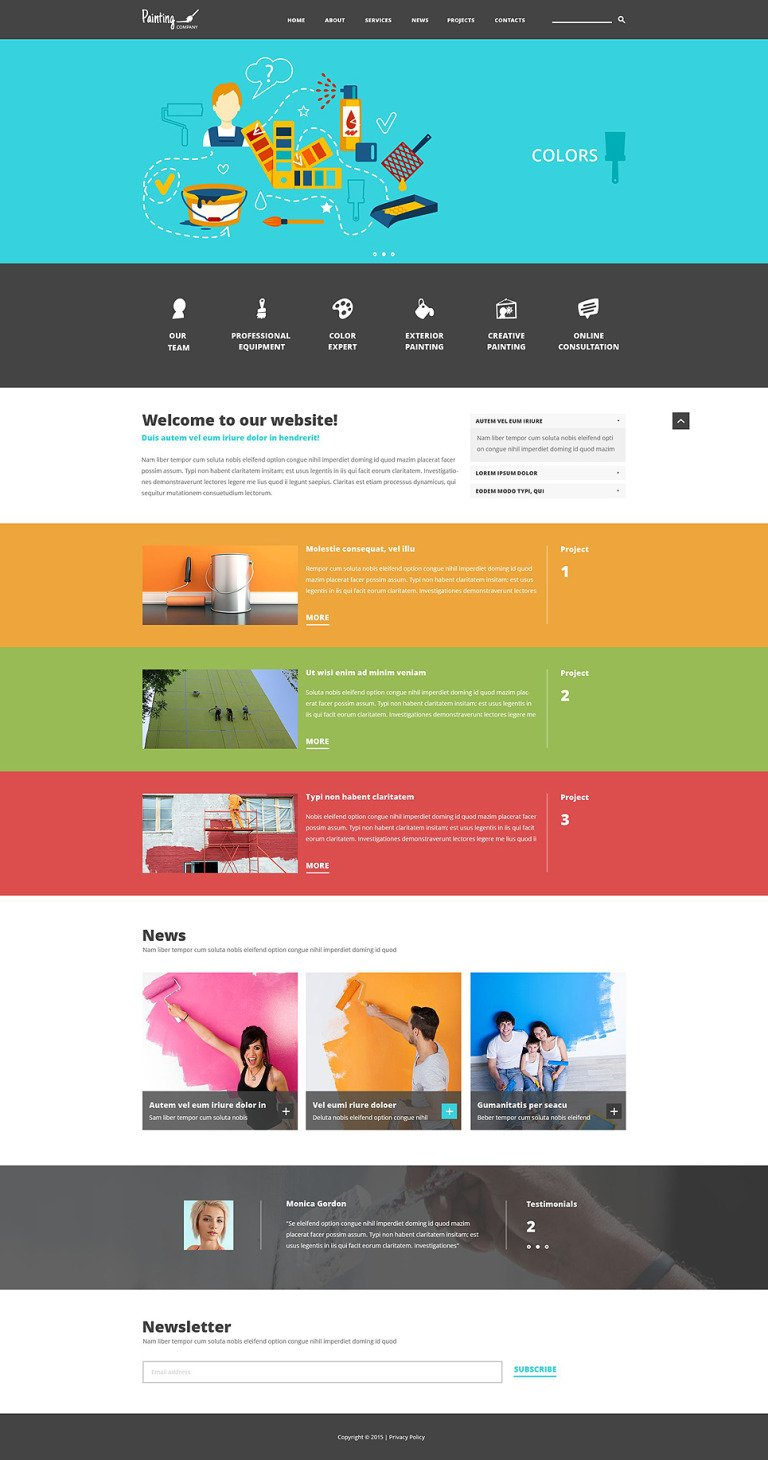 Painting Company Joomla Template New Screenshots BIG