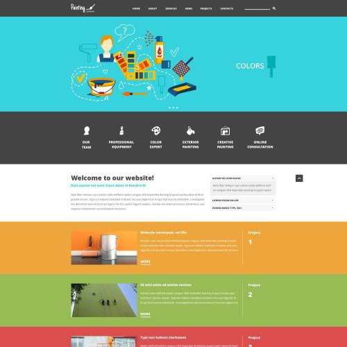 Painting  - Joomla! Template based on Bootstrap