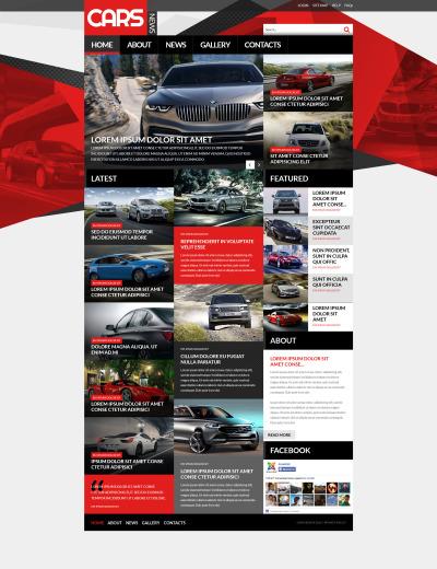 Responsive Plantilla Joomla #52922 para Sitio de  para Sitio de Clubes de coches