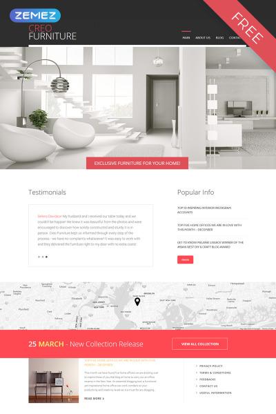 Responsive Plantilla Joomla #52986 para Sitio de  para Sitio de Interior y Muebles