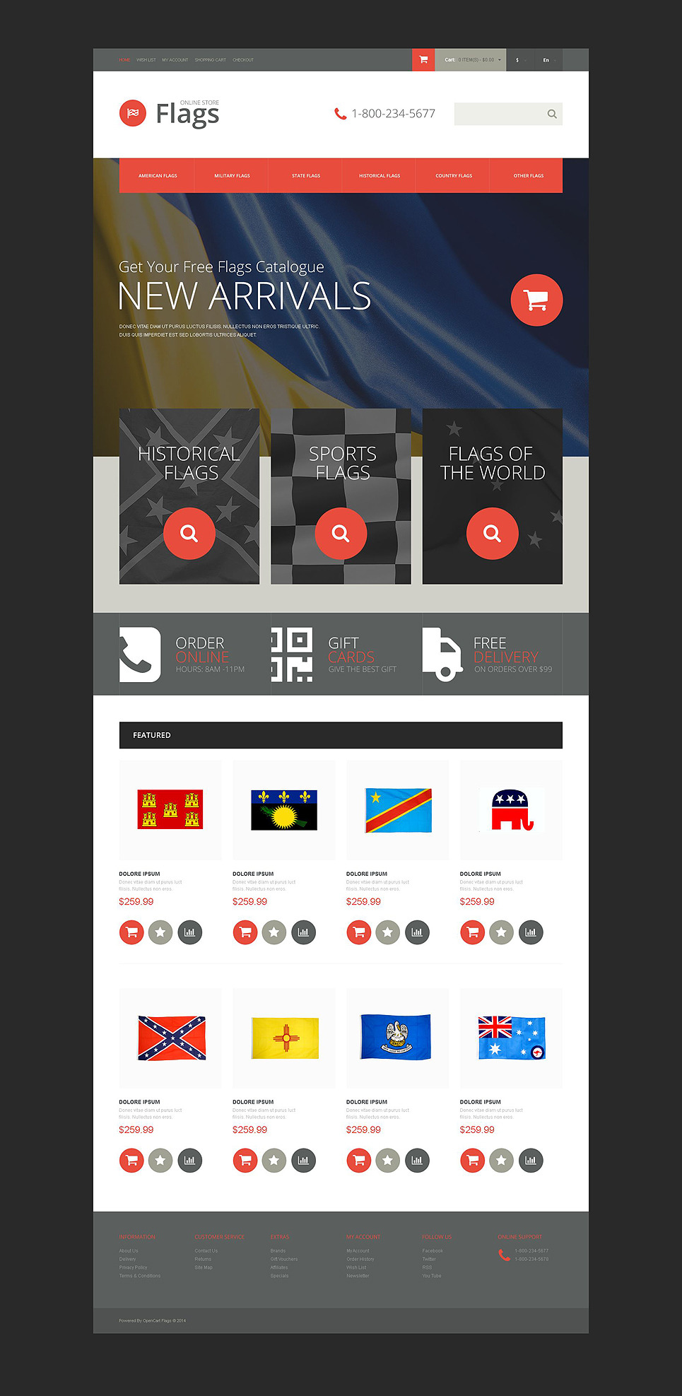 Politics Responsive OpenCart Template New Screenshots BIG