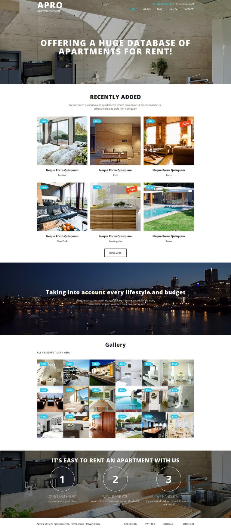 Real Estate Business Joomla Template New Screenshots BIG