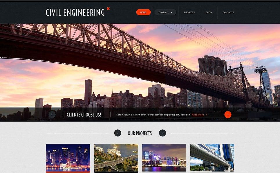 Responsive Website template over Civiele Techniek New Screenshots BIG