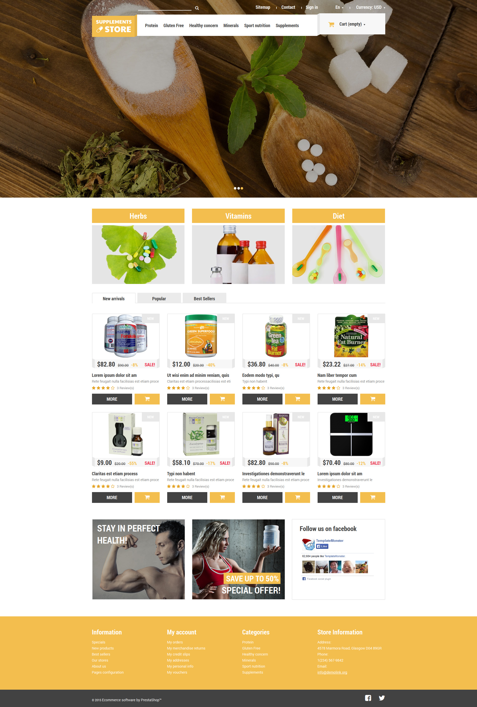 Responsivt NutritionSupplements PrestaShop-tema #52915