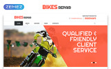 Responsywny szablon strony www Bikes Repair - Motorcycles Repair & Service Responsive Clean HTML #52978