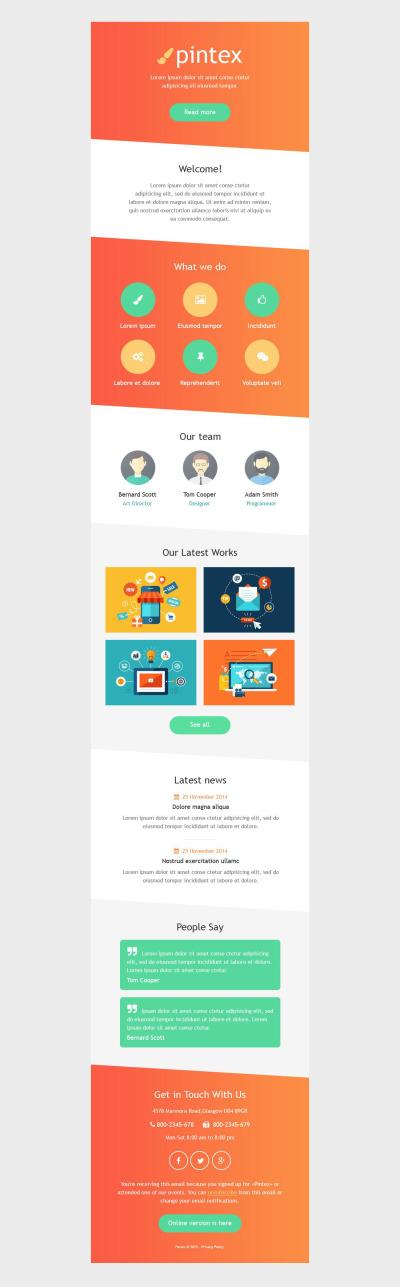 Web Development Responsive Newsletter šablona