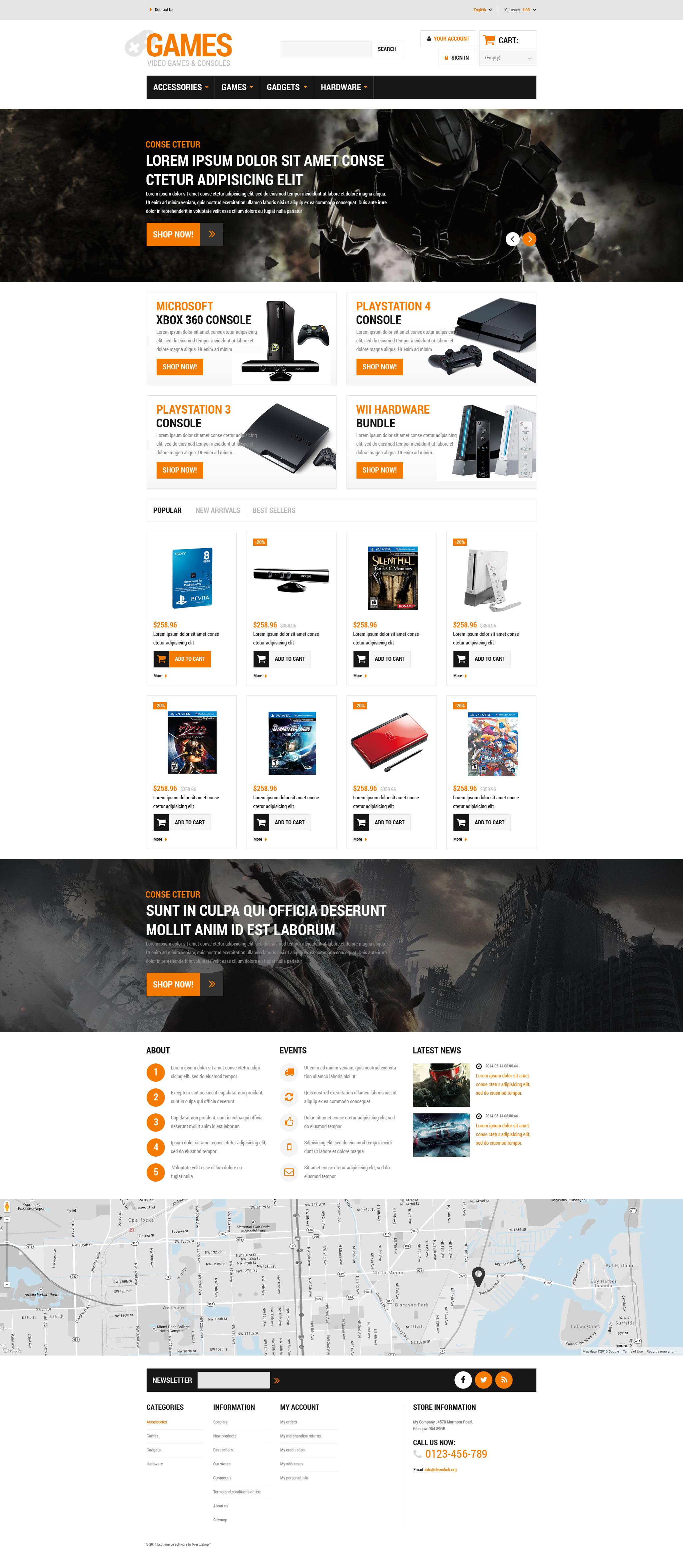 Reszponzív Gaming Board PrestaShop sablon 52926