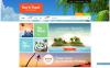 Reszponzív Travel Bureau Shopify sablon New Screenshots BIG