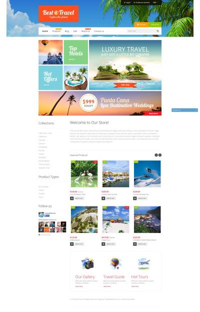 Responsives Shopify Theme für Reisebüro