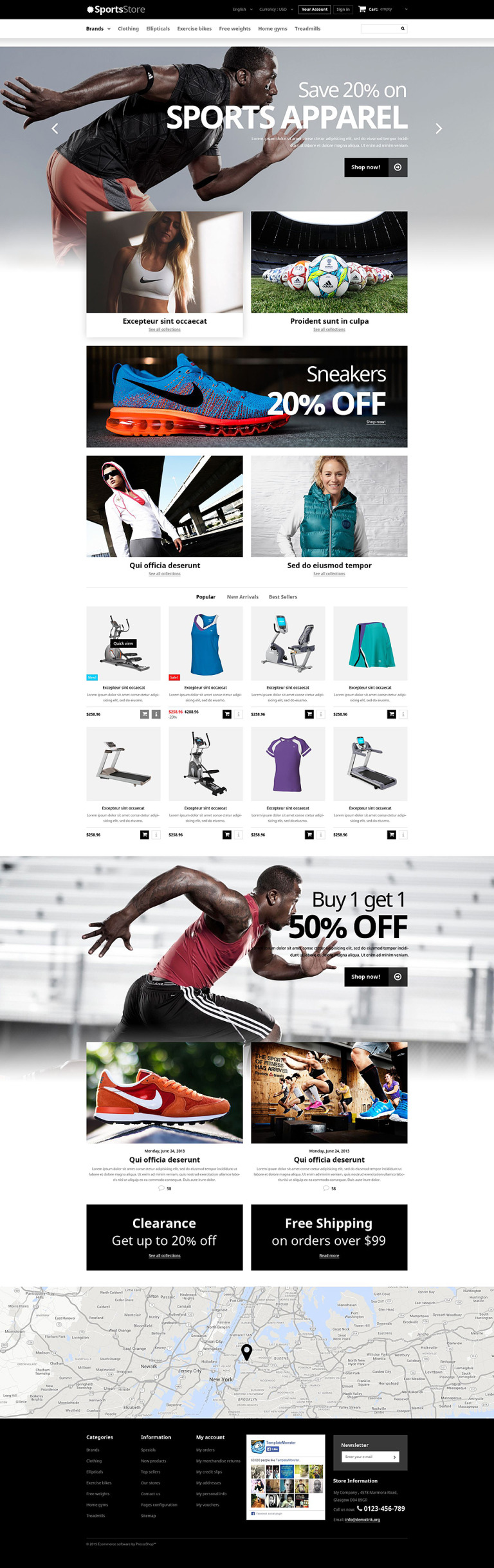 Sports Clothes Equipment PrestaShop Theme New Screenshots BIG