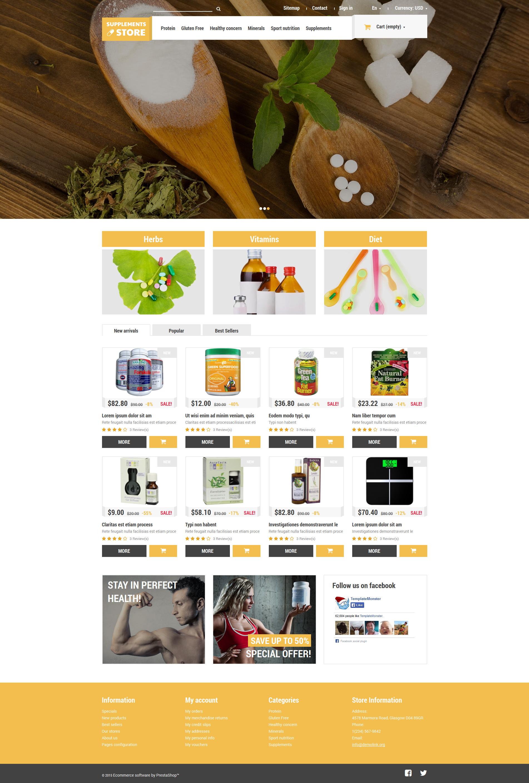 """""""Suppléments nutritionnels"""" thème PrestaShop adaptatif #52915"""