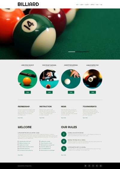 Responsive Tema De WordPress #52999 para Sitio de  para Sitio de Billar