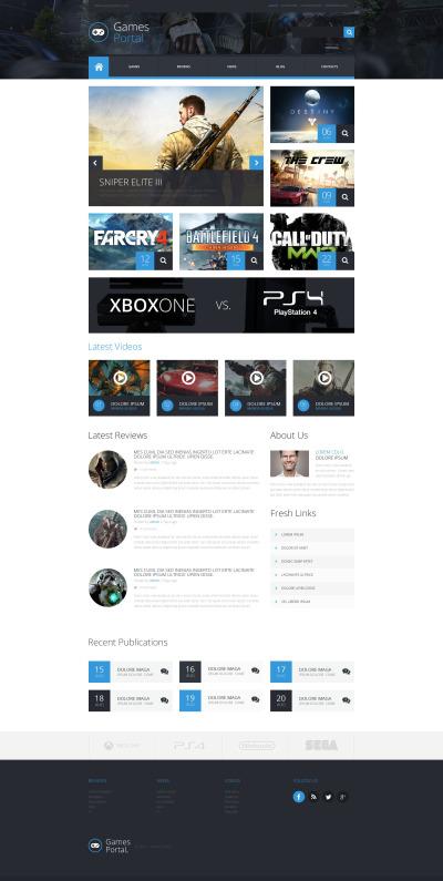 Responsive Tema De WordPress #52906 para Sitio de  para Portal de Juegos