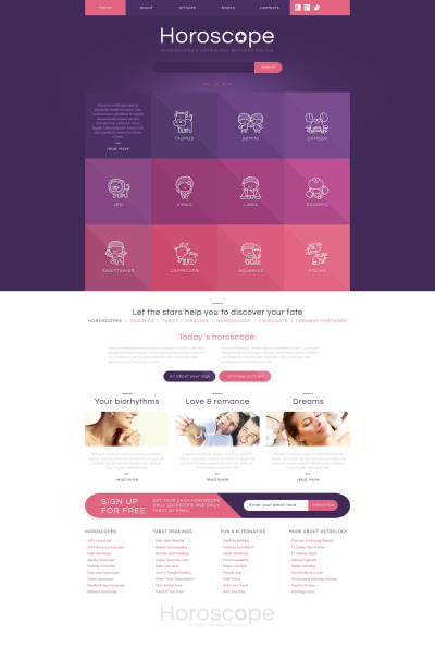 Astrology Responsive Template Siti Web