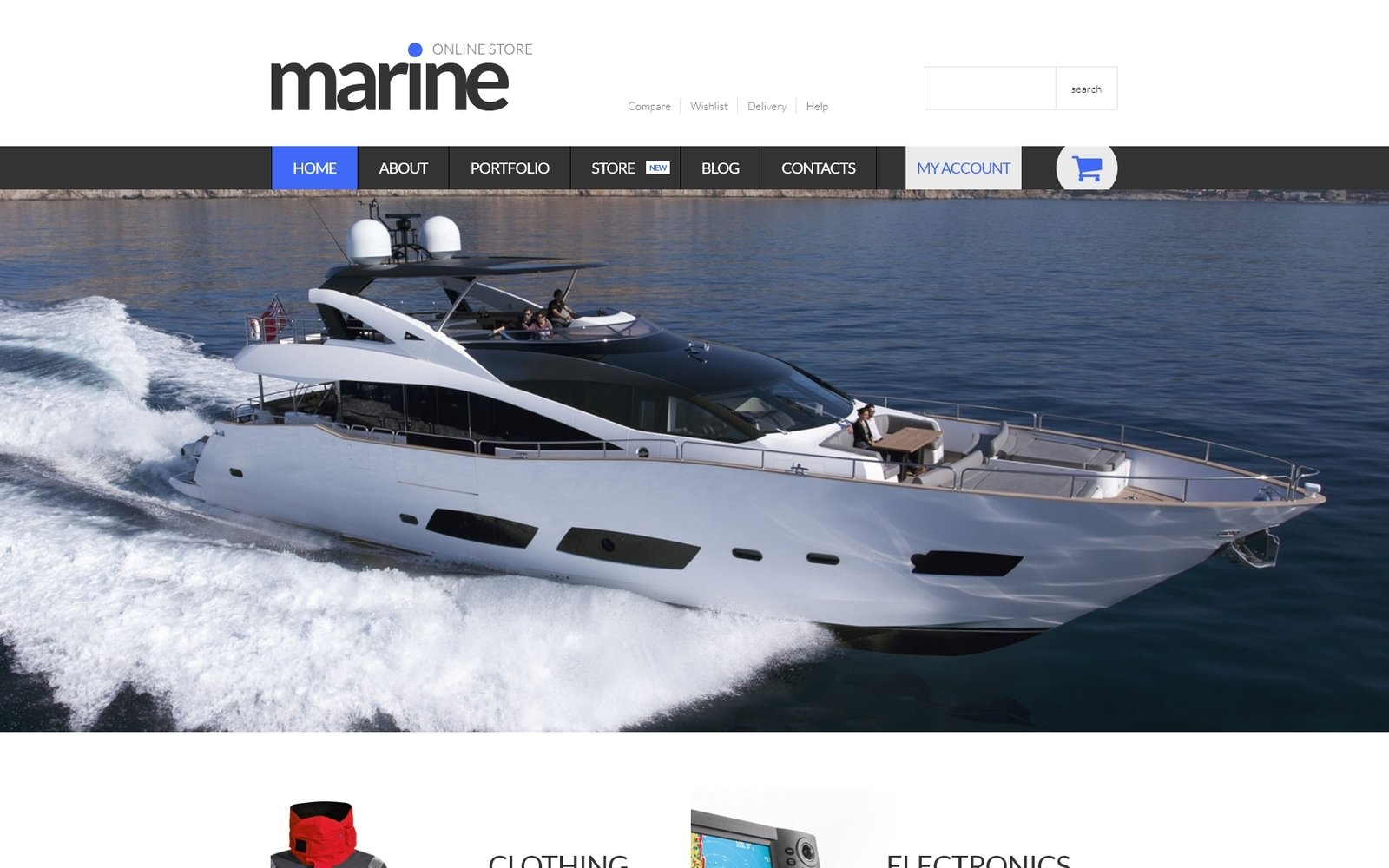 "Tema WooCommerce ""Marine Shop"" #52918"
