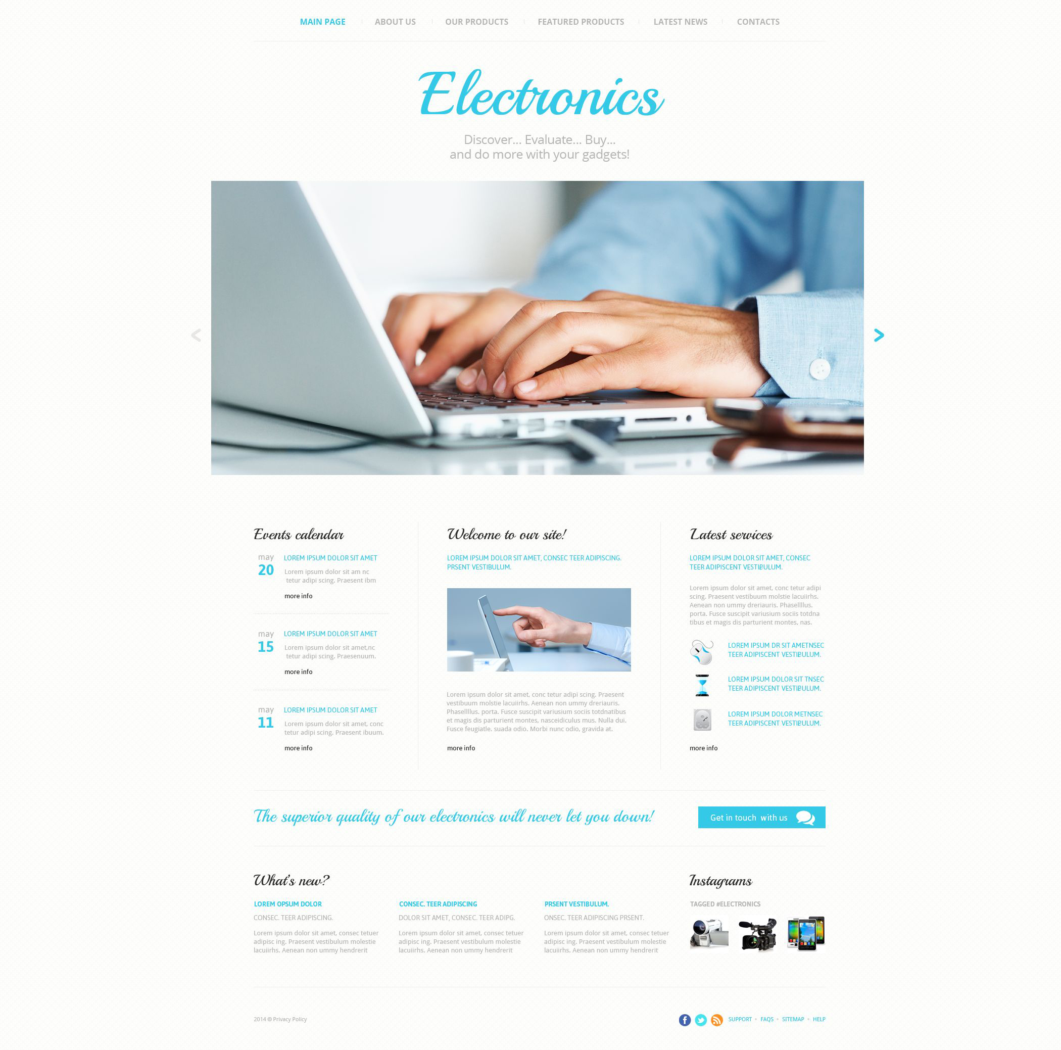 "Template Siti Web Responsive #52981 ""Consumer Electronics"""
