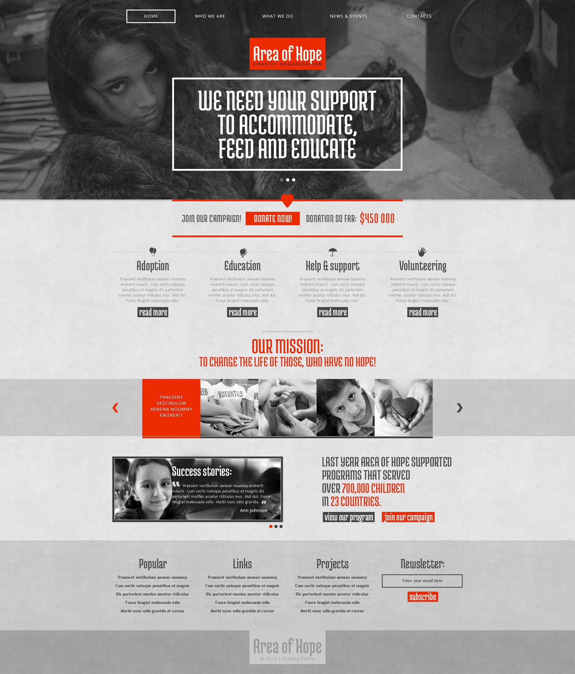 Thème Drupal adaptatif pour site d'association caritative #52973