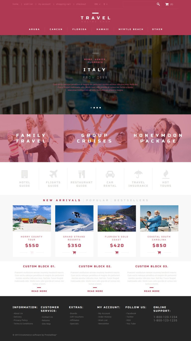 Tour Agent PrestaShop Theme New Screenshots BIG