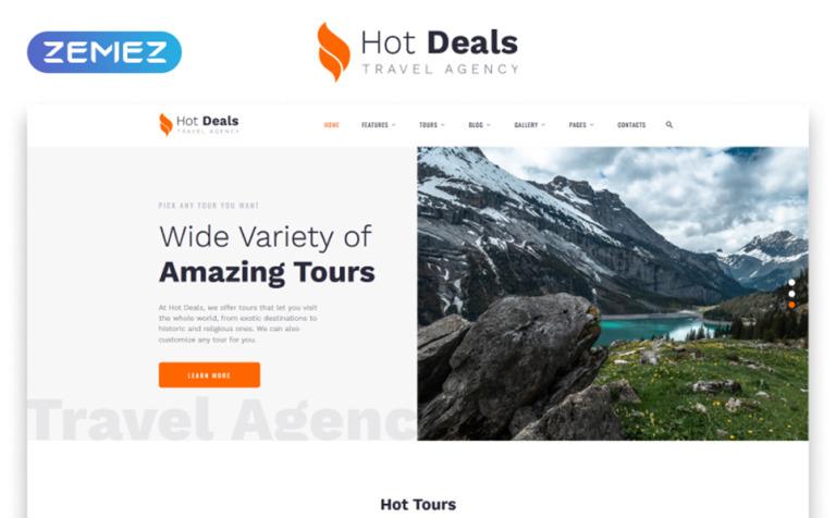 Tour Operator Website Template #52960