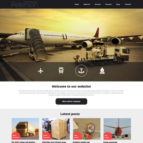 Peterson Transportation - Joomla! Template based on Bootstrap