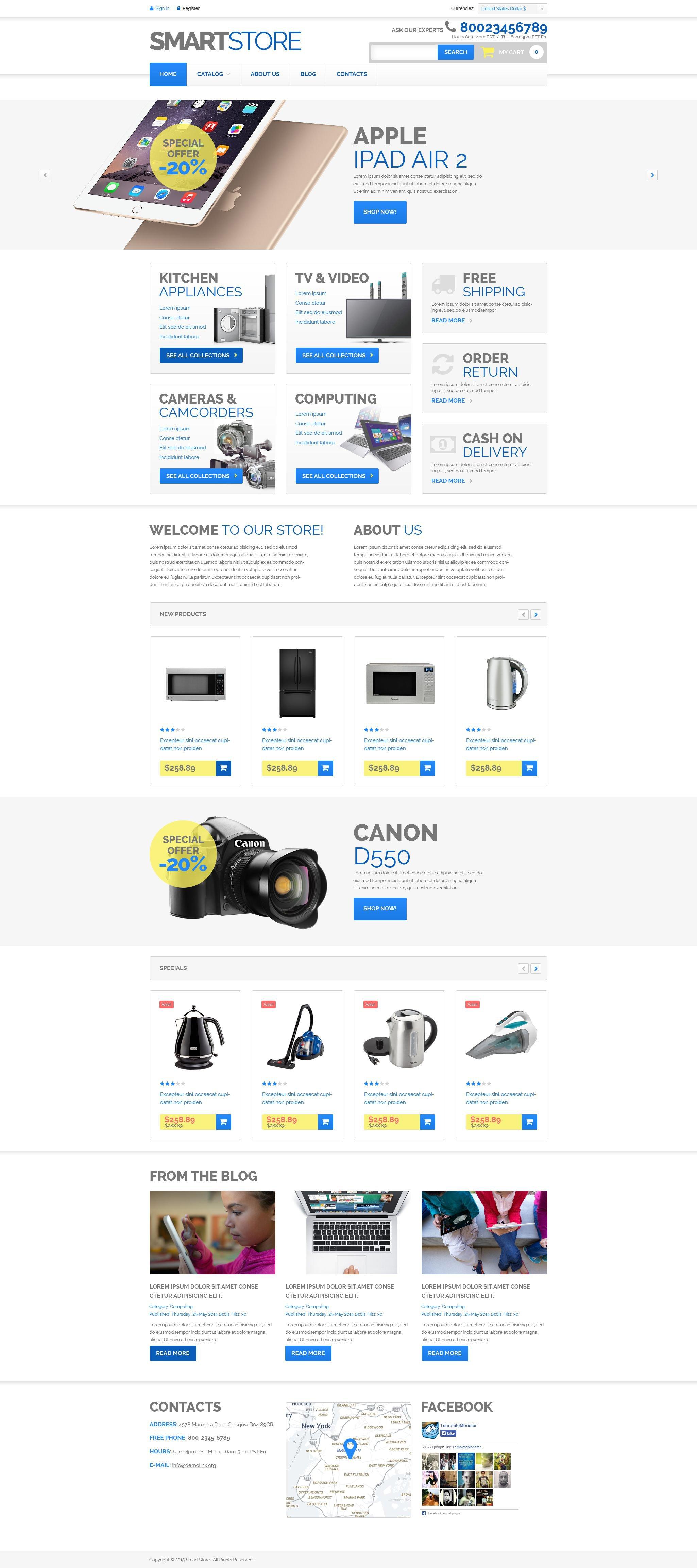 "VirtueMart Vorlage namens ""Haushaltselektronik"" #52903"