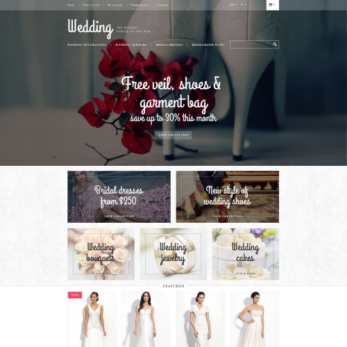 Wedding  - OpenCart Template based on Bootstrap