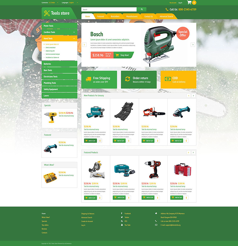Wheels Tires Change OsCommerce Template New Screenshots BIG
