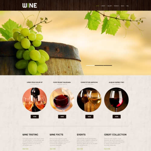 Wine - WordPress Template based on Bootstrap