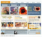 3-Color Website: Art & Photography Online Store/Shop Full Site Clean Style 3 Colors