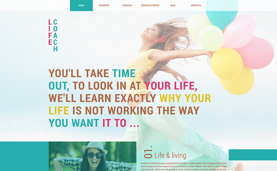 Responsive Joomla Template over Life Coach  New Screenshots BIG