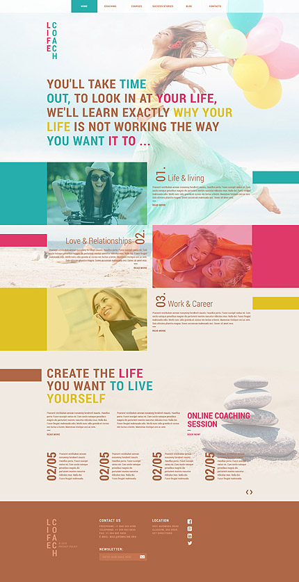 Life Coach Solutions Joomla Template | Website Templates